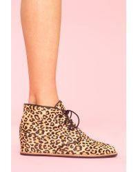 Nasty Gal | Multicolor Leopard Desert Boot | Lyst