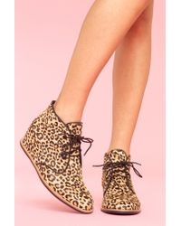 Nasty Gal - Multicolor Leopard Desert Boot - Lyst