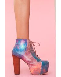 Nasty Gal | Multicolor Lita Platform Boot - Cosmic | Lyst