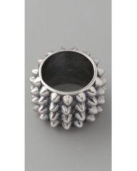 Tom Binns - Metallic Punk Pave Cigar Ring - Lyst