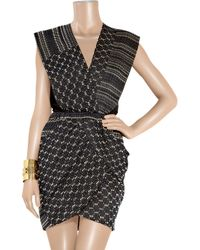 Zero + Maria Cornejo - Black Mackie Draped Jacquard Dress - Lyst