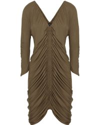 Zero + Maria Cornejo | Brown Kiara Ruched Stretch-Jersey Dress | Lyst