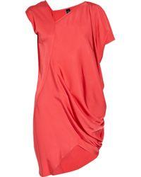 Zero + Maria Cornejo | Pink Cade Asymmetric Satin-crepe Dress | Lyst