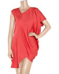 Zero + Maria Cornejo   Pink Cade Asymmetric Satin-crepe Dress   Lyst