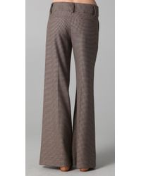 Alice + Olivia | Brown Wide Leg Tweed Pants | Lyst