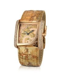 Alviero Martini 1A Classe | Metallic 1a Prima Classe - Ladies Crystal Geo Gold Plated Watch | Lyst