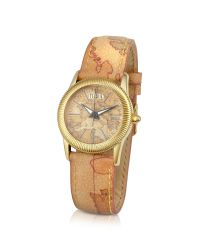 Alviero Martini 1A Classe | Natural 1a Prima Classe - Ladies Geo Dial and Strap Gold Plated Watch | Lyst