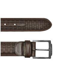 A.Testoni | Mens Dark Brown Woven Dear Leather Belt for Men | Lyst