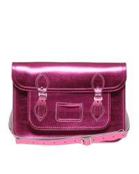 Cambridge Satchel Company | Pink Metallic Satchel | Lyst