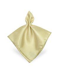 FORZIERI - Purple Mini Polkadot Twill Silk Pocket Square for Men - Lyst