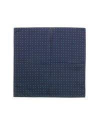 FORZIERI - Blue Polkadot Twill Silk Pocket Square for Men - Lyst
