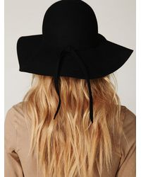 Free People | Black Jenny Floppy Hat | Lyst
