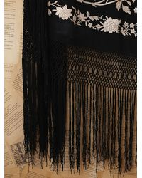 Free People | Black Vintage Piano Shawl | Lyst