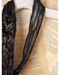 Free People | Black Vintage Sequin Scarf | Lyst
