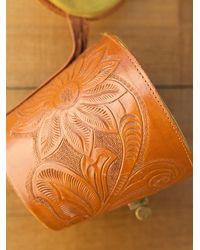 Free People - Brown Vintage Leather Bucket Bag - Lyst