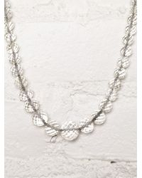 Free People - White Vintage Austrian Crystal Necklace - Lyst