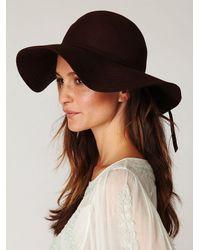 Free People - Brown Jenny Floppy Hat - Lyst