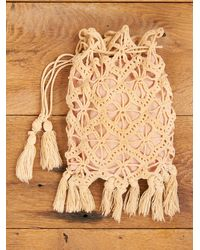 Free People | Natural Vintage Crochet Purse with Pink Lining | Lyst