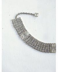 Free People - Gray Vintage Rhinestone Choker - Lyst