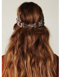 Free People | Multicolor Zig Zag Turban Headband | Lyst
