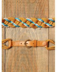 Free People | Yellow Totem Rope Waist Belt | Lyst