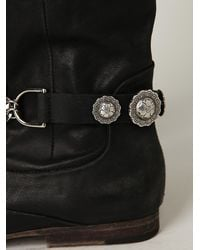 Free People - Black Western Concho Rider Boot Chain - Lyst