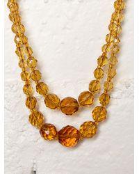 Free People - Yellow Vintage Crystal Choker - Lyst