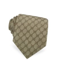 Gucci | Natural Gg Diamond Pattern Silk Tie for Men | Lyst