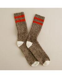 J.Crew | Orange Camp Socks for Men | Lyst
