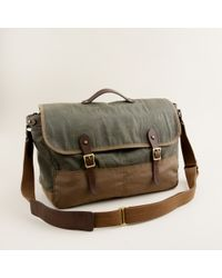J.Crew - Green Abingdon Messenger Bag for Men - Lyst