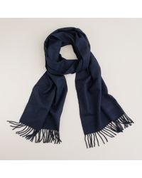 J.Crew | Blue Cashmere Scarf for Men | Lyst