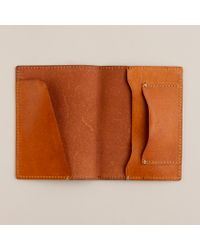 J.Crew | Brown Cognac Leather Passport Holder for Men | Lyst