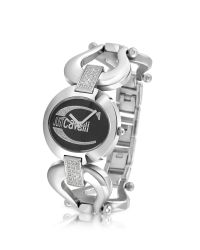 Just Cavalli - Metallic Jc Cruise - Black Horsebit Crystal Bracelet Watch - Lyst
