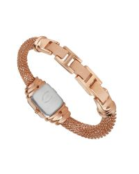 Just Cavalli   Pink Eshmay - Rose Gold Plated Mesh Bracelet Watch   Lyst