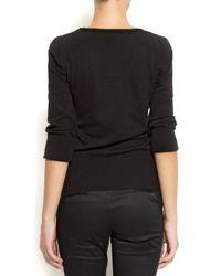 Mango - Black Ribbed Sweater - Lyst