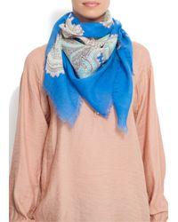 Mango | Blue Touch - Ethnic Handkerchief | Lyst