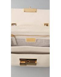 Michael Kors | White Quinn Small Top Handle Satchel | Lyst