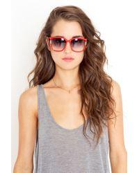 Nasty Gal - Leonard Paris Stud Sunglasses - Red - Lyst