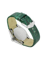 Roberto Cavalli | Diamond - Green Croco Leather Strap Watch | Lyst