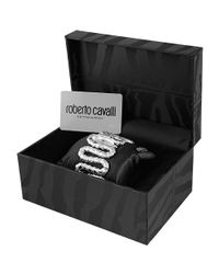 Roberto Cavalli - Gray Cleopatra - Stainless Steel Snake Cuff Bracelet Watch - Lyst