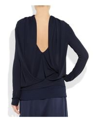 Roland Mouret - Blue Draped Stretch-crepe Top - Lyst