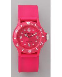 Rumbatime | Neon Pink Perry Slap Watch | Lyst