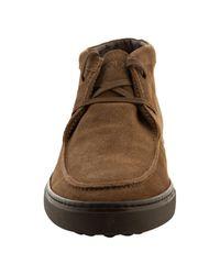 Tod's - Brown Tan Suede Sport Cassetta Chukka Boots for Men - Lyst