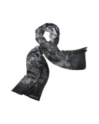 Valentino | Black Lace Silk Long Scarf | Lyst