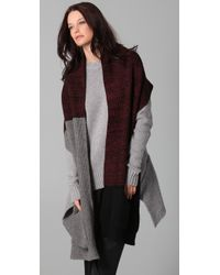 Alexander Wang | Black Marled Colorblock Long Scarf | Lyst