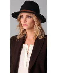 Club Monaco | Black Willow Hat | Lyst