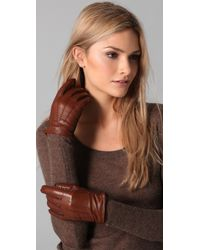 Club Monaco | Brown Leslie Slit Gloves | Lyst