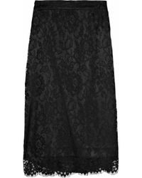 Dolce & Gabbana - Black Lace And Tulle Skirt - Lyst