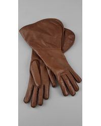 DSquared² - Brown Leather Gloves - Lyst