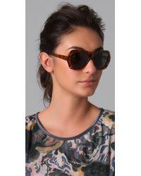 Elizabeth and James   Brown Havana Sunglasses - Tortoise   Lyst